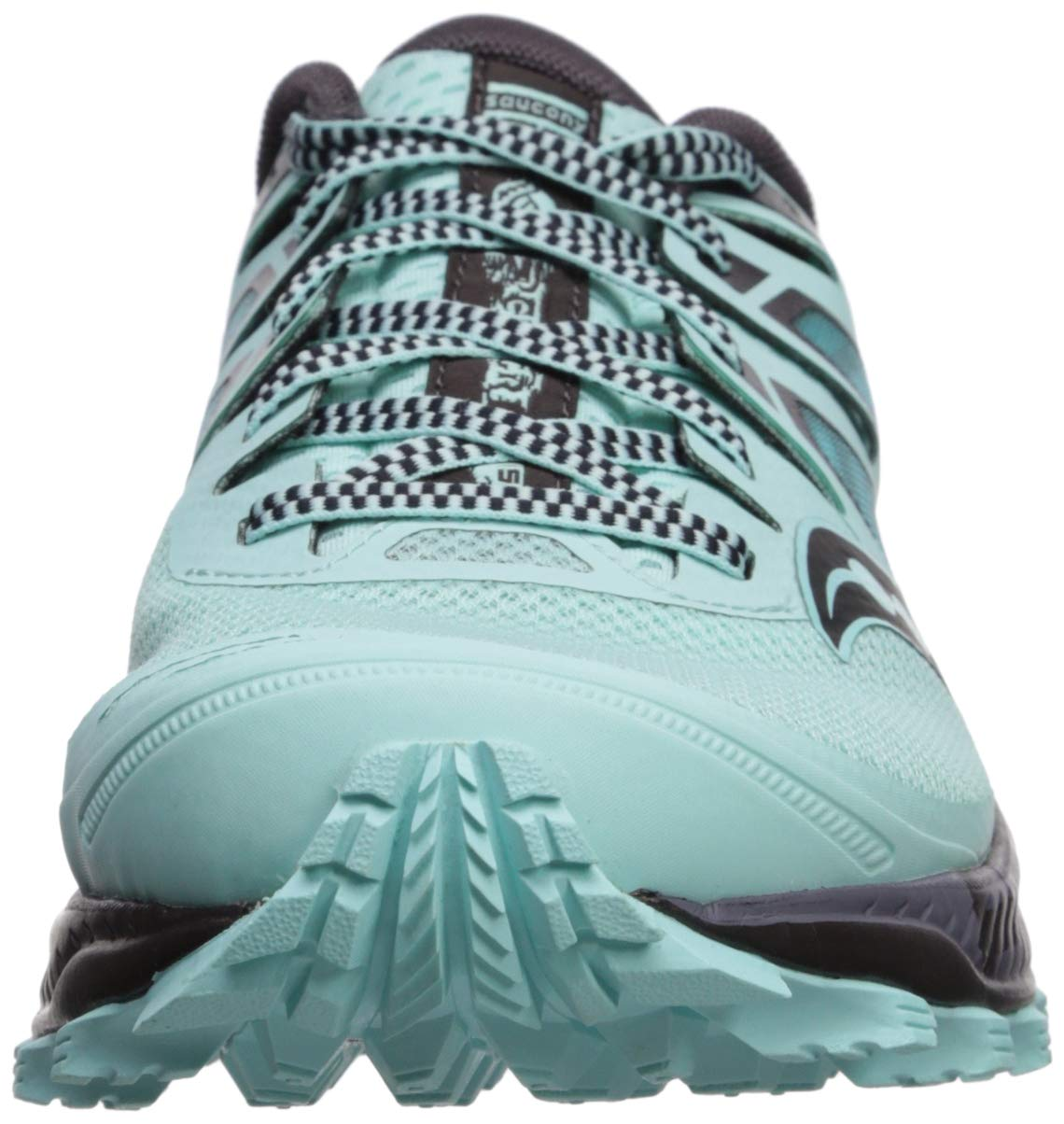 Saucony Women's Peregrine ISO Trail Running Shoe, Aqua/Grey, 5 M US by Saucony (Image #4)