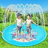 "Yuhebaby Sprinkler for Kids, 68"" Sprinkle and Splash Play Mat Pad,Water Toys Fun for 1 2 3 4 5 Year Old Boy Girl,Kids Outdoor Party Sprinkler Toy"