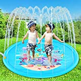 "Yuhebaby Sprinkler for Kids, 68"" Sprinkle and Splash Play Mat Pad,Water Toys Fun"
