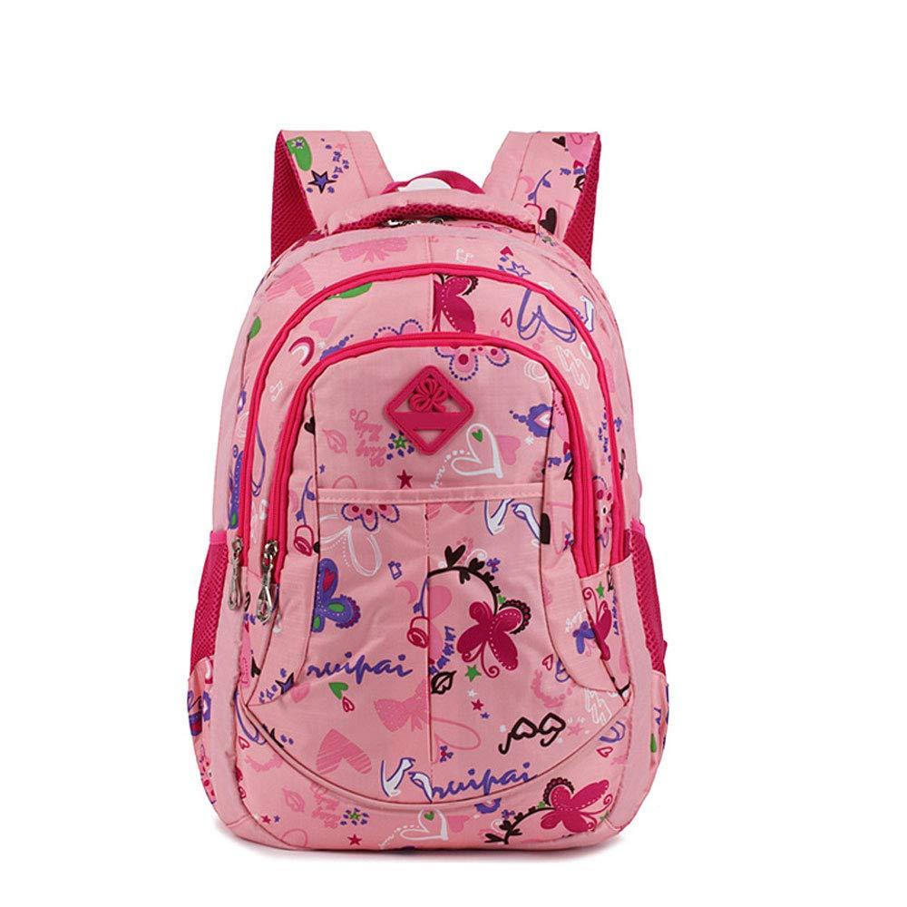 LBYMYB Trend Blume Rucksack Student Student Student Campus Tasche Kinderrucksack (Farbe   schwarz Rose) 179e20