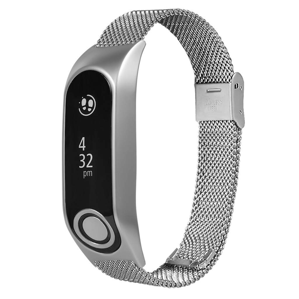 Milanese Metal Case Watch Loop Stainless Steel Watch Band Replacement Strap for Tomtom Touch (Silver) by YNAA (Image #1)