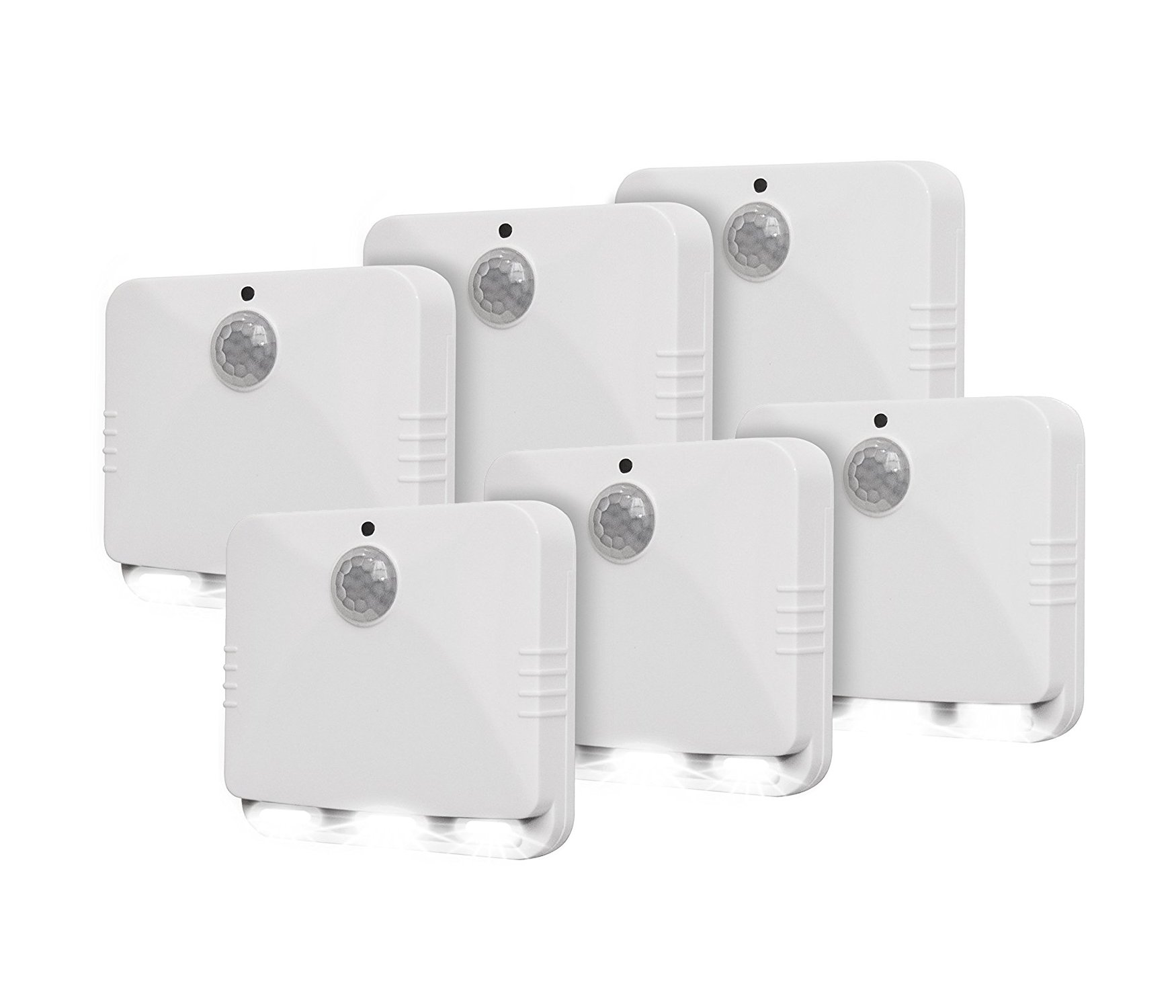 As Seen On TV Sensor Brite Motion Activated LED Lights (6), 6-pack, White