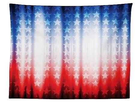 Vipsung Bandiera Americana Decor Tovaglia Sfondo Astratto Con Stelle