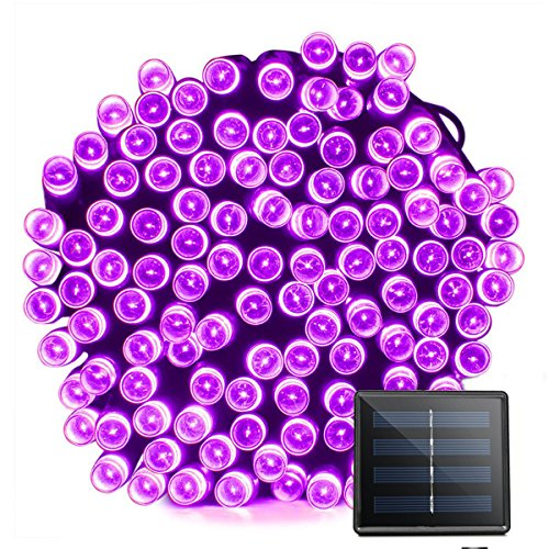 VMANOO Solar Christmas Lights, 72ft 22m 200 LED 8 Modes Solar String Lights for Outdoor, Indoor, Gardens, Homes, Party, Halloween Decorations, Waterproof (Purple) by VMANOO