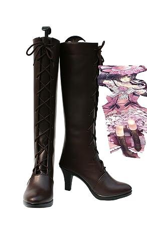 De Black Vestido Butler Kuroshitsuji Zapatos Cosplay Ciel Mujer Para CCqRZg