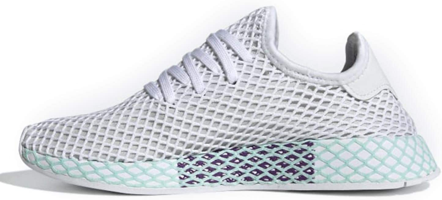 adidas Originals Deerupt Runner Shoe Women's Casual Blue Tint/Ecru Tint/Active Purple