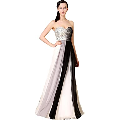dressvip Strapless Sequined Bust Ombre Ladies Evening Prom Dress Long (UK16)
