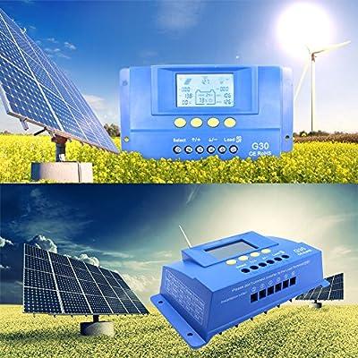 Y-SOLAR Tracer MPPT Solar Charge Controller 12V 24V Auto Switch LCD Solar Regulator (G30)