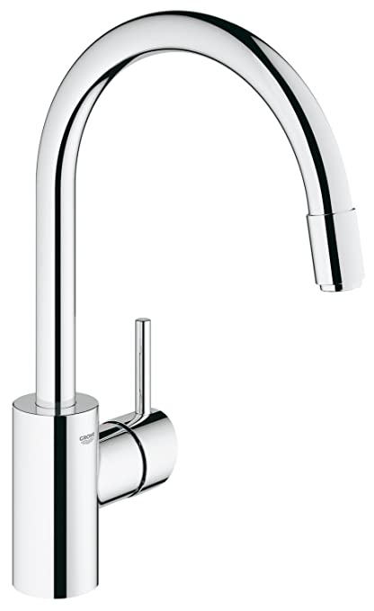 Grohe 3134900E Concetto Single Handle Pull-Down Spray Kitchen Faucet ...