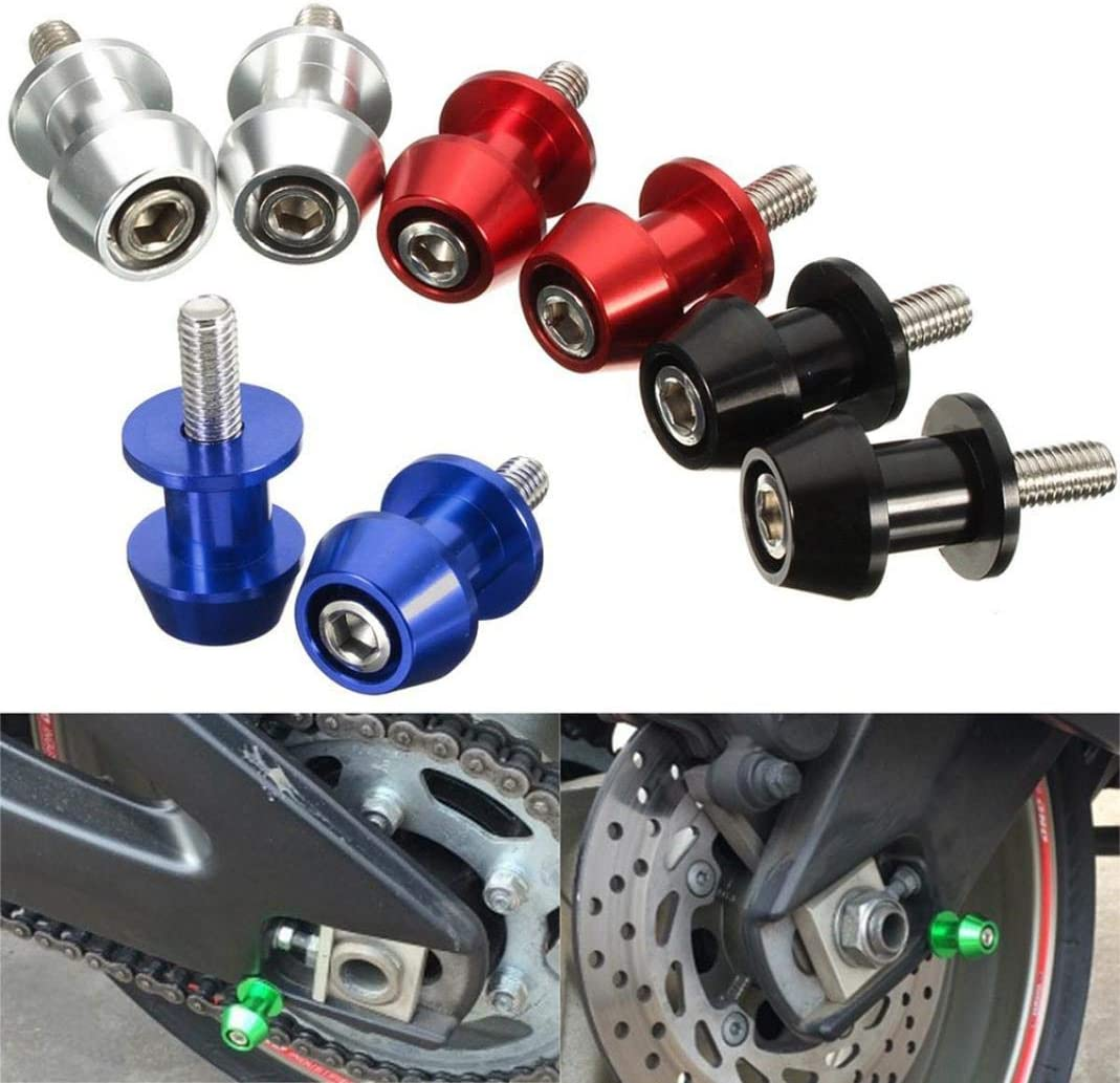 Mingsa Store Swingarm Spool External Decoration Swingarm Spool 2Pcs 8mm//10mm Motorcycle CNC Swingarm Sliders Spools for Honda Suzuki Kawasaki Red 10mm