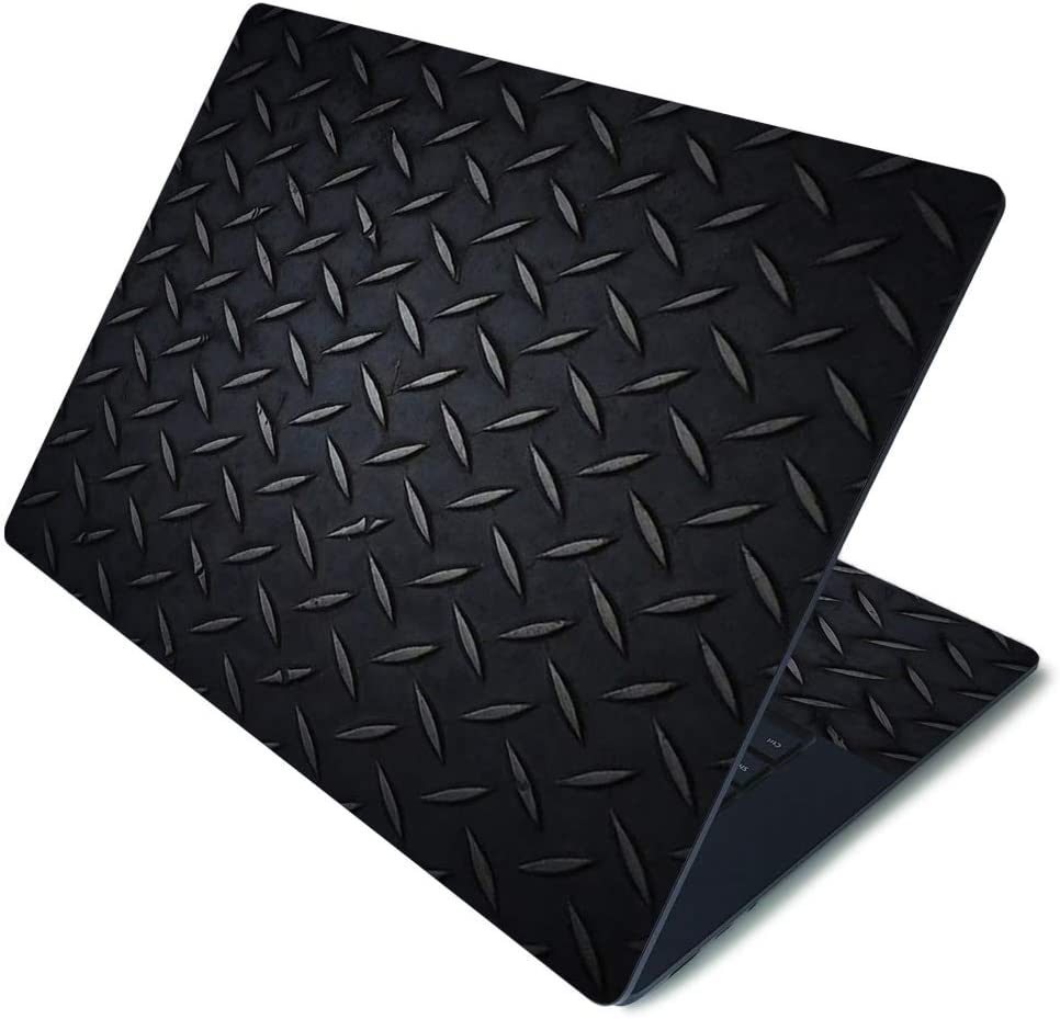 "MightySkins Skin for Microsoft Surface Laptop 3 15"" - Black Diamond Plate 
