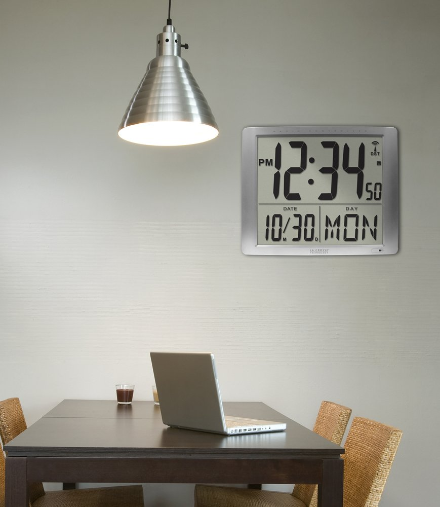 Amazon la crosse technology 515 1316 super large 16 inch amazon la crosse technology 515 1316 super large 16 inch atomic digital wall clock home kitchen amipublicfo Image collections