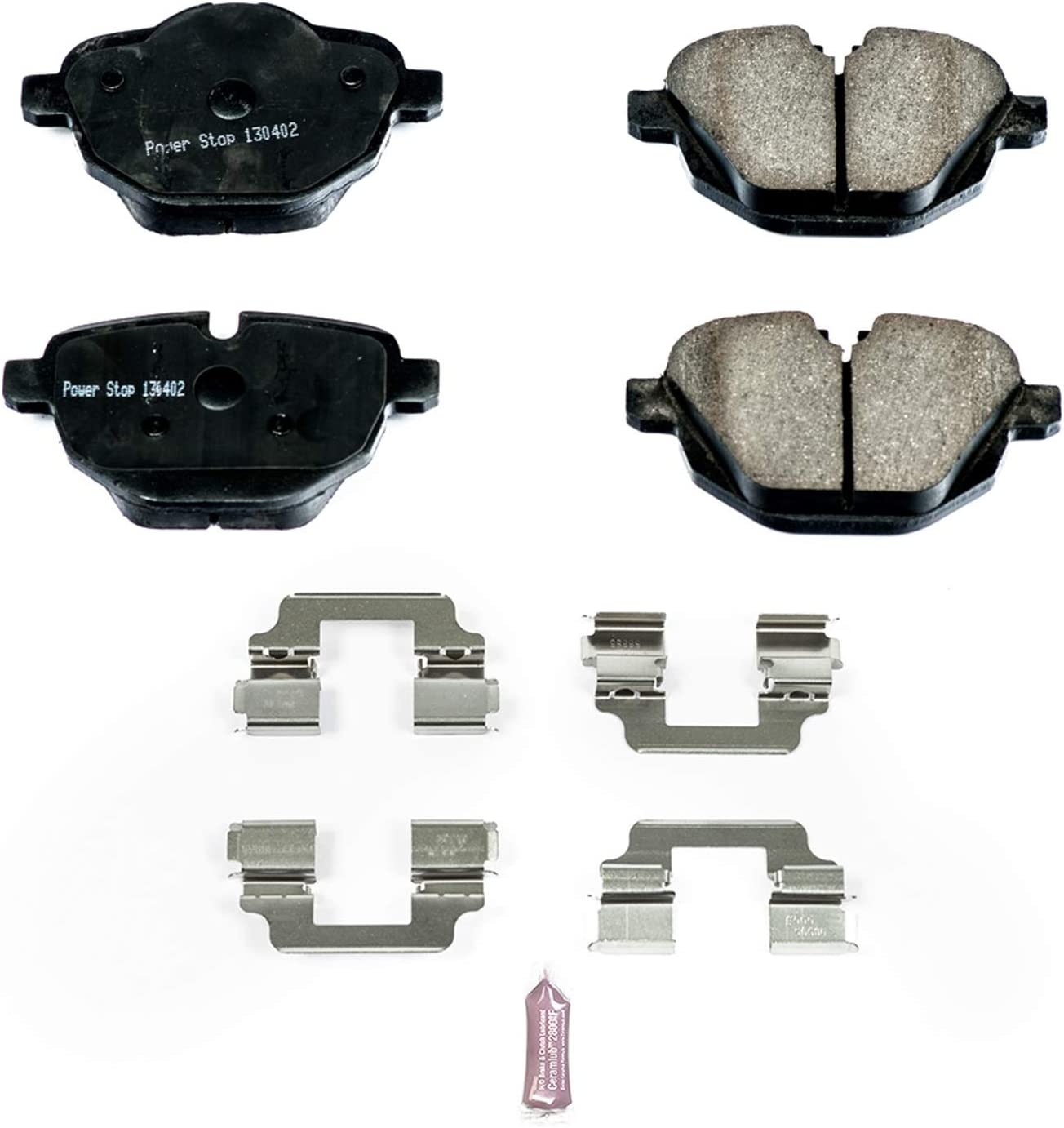 Power Stop 17-1473 Z17 Rear Ceramic Brake Pads with Hardware