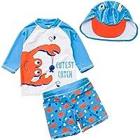 Childlike Me Toddler Baby Boy Summer Two Piece Rash Guard Swimsuit Orange Crab