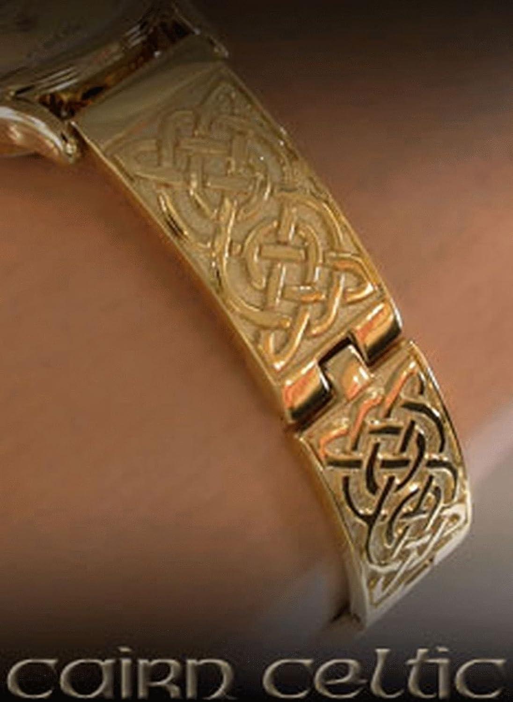 Cairn Keltisches Damen vergoldet Perlmutt Zifferblatt Armbanduhr (cc3plg4)