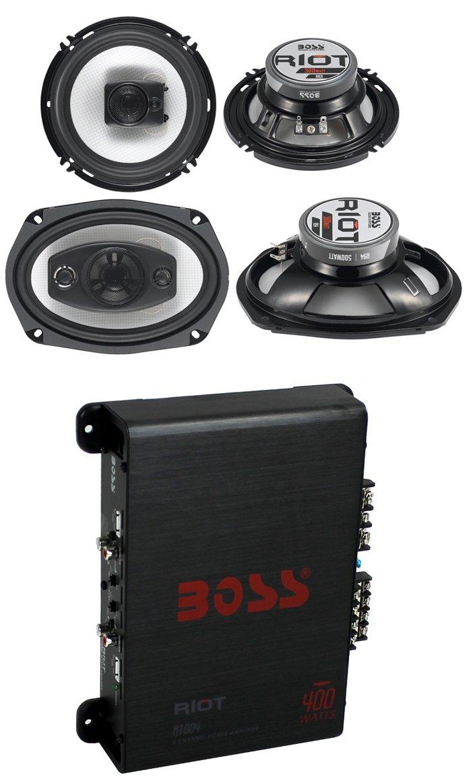 2 Boss R94 6x9 500w 4 Way Car 65 300w 3 Home Gt Audio Amplifier Kit Amp Wiring Pyramid 8ga Speakers 400w Ch Electronics
