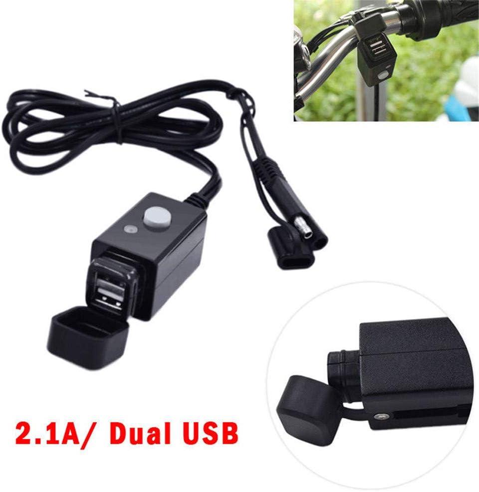 MagiDeal Double USB Chargeur de Moto Connecteur Rapide SAE Connecteur