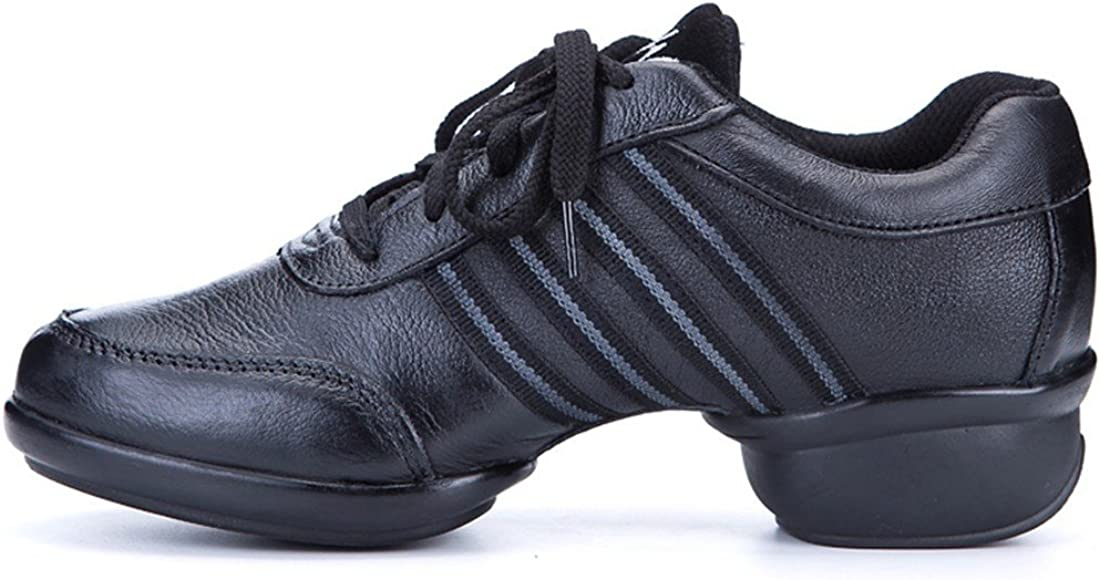 WXMDDN The Girl Jazz Dance Shoes Dance Shoes Black Mesh Dance Shoe Leather Shoes in The Professional Dance Dance Shoe