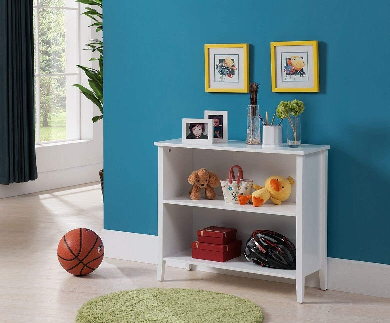 Kings Brand Furniture 2-Shelf Bookcase, White