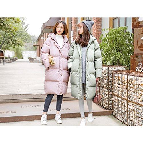 Winter Zip Fondo M Con Piumino Green Nz Sections Cappuccio Dimensioni colore Donna Cappotto Da Pink Sul Warm Long FXqv47