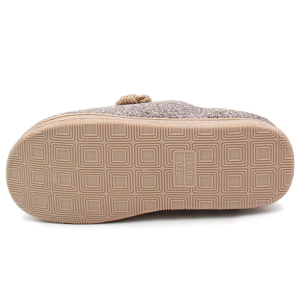 ALOTUS Unisex Memory Foam Warm Slipper Boot with Flower or Label Indoor Outdoor
