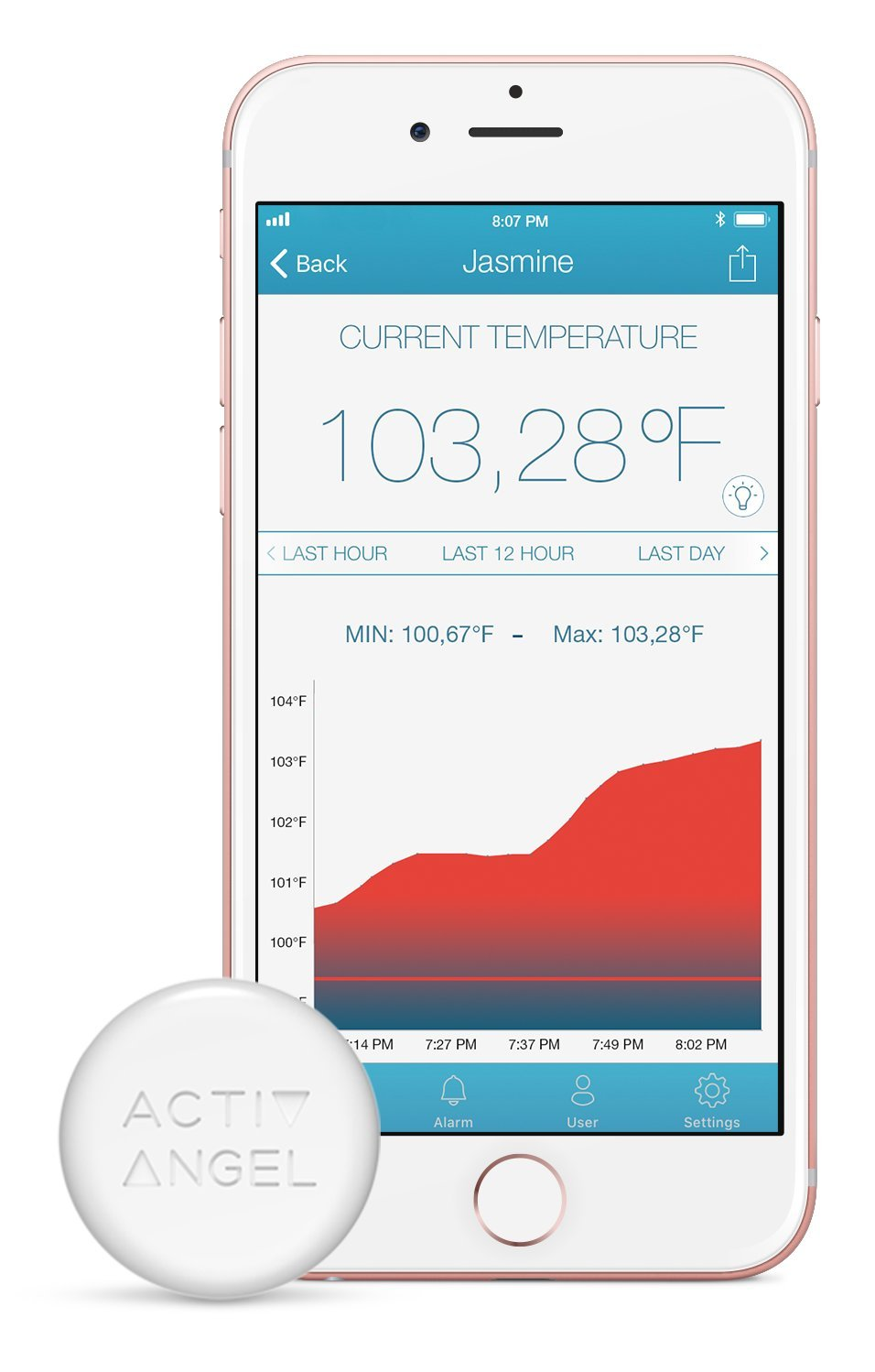 ActivAngel Smart Thermometer - The fast, non-intrusive way to take and monitor temperature. by ActivAngel