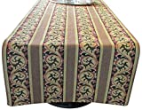 Corona Decor Extra-Wide Italian Woven Table Runner, 95 by 26-Inch, Gold/Rose
