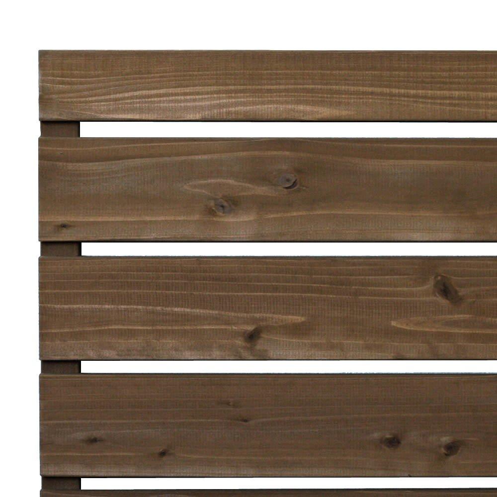 枠付き フェンス 横板C(隙間15ミリ) 国産杉【上下枠】 幅1900×高さ1033×奥行36mm NL(ナチュラル)色 B0765RS7JH 幅1900mm,NL(ナチュラル)