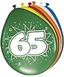 Ballon bunt Luftballons Zahl 65 Geburtstag 8 St. Deko Ballons Party