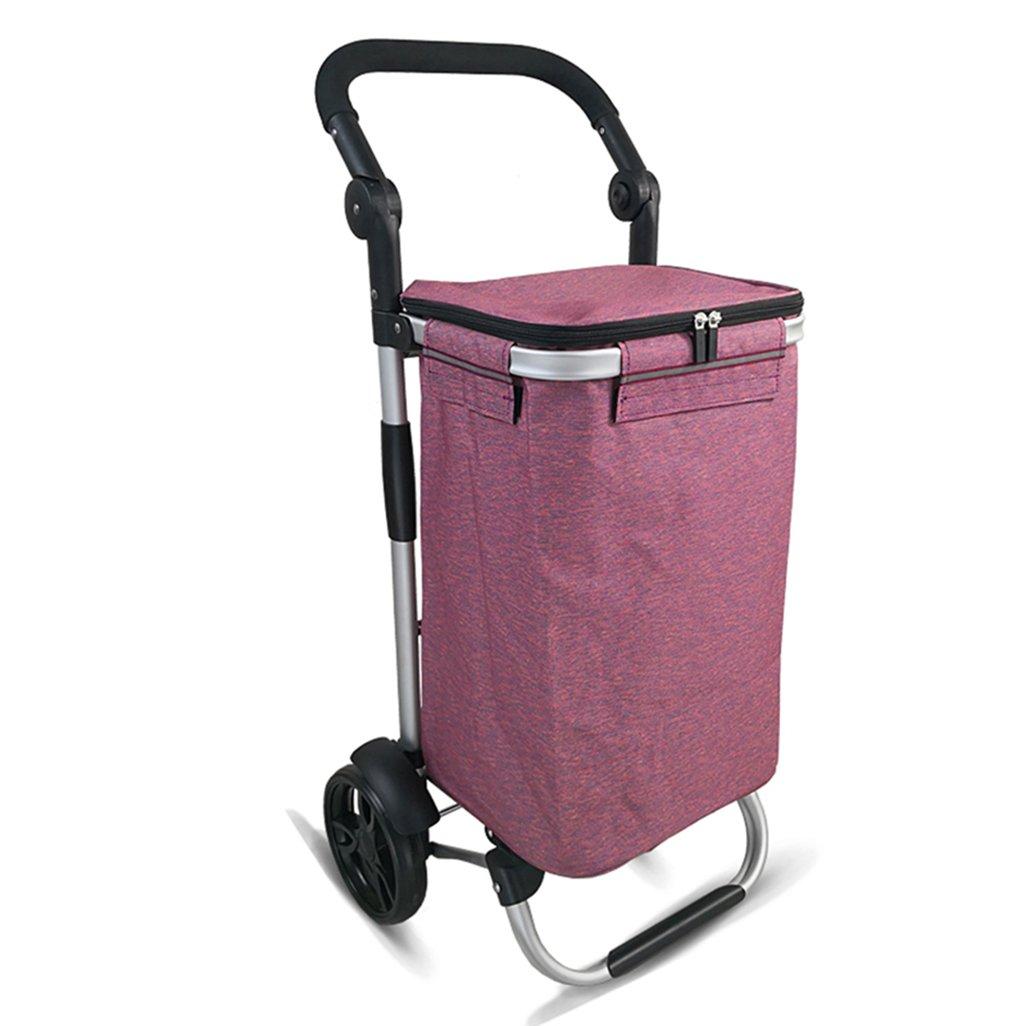 J-JIAショッピングキャリー 軽量アルミ合金折り畳み式ショッピングトローリー|ショッピングカート|トラベルカート食料品カートカートトロリー2耐摩耗性サイレントホイール折りたたみ式プッシュ、プルカットオックスフォード布ショッピングバッグカートポータブルトート大容量30L重量:2.2kg(3色) (色 : パープル ぱ゜ぷる) B07DN72VSG パープル ぱ゜ぷる パープル ぱ゜ぷる