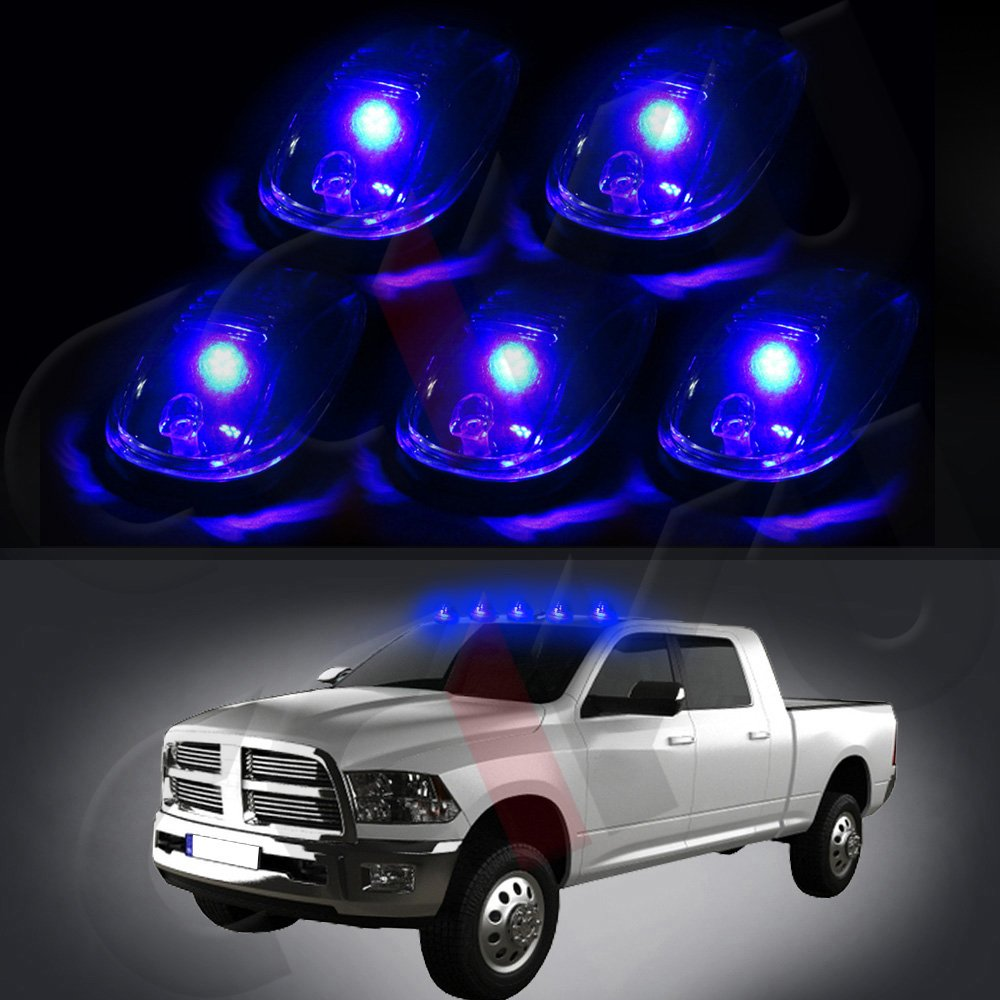 Top Roof Running Light Cab Marker Light with Base Housing +free 5x Blue T10 8SMD LED Lights cciyu