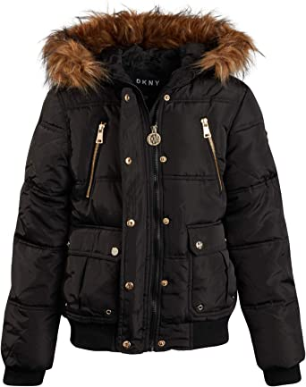 New Ladies 16-24 Quilt Padded Puffer Bubble Coat Jacket Removable Hood Gold Zip