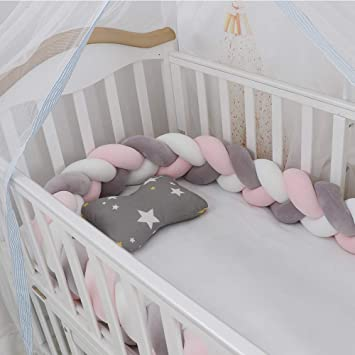 Cot Rail Cover Pink with White Spots Crib Teething Pad x 1