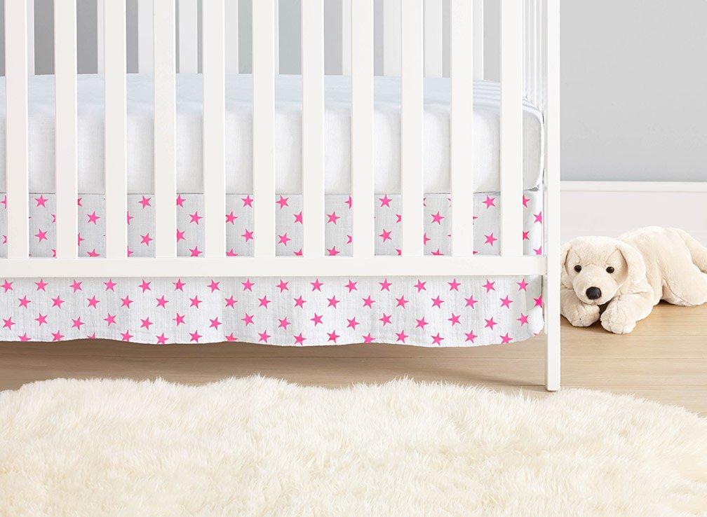 aden + anais Classic Crib Skirt, Fluro Pink