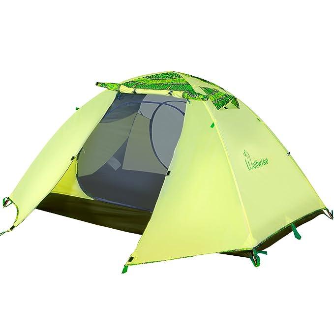 7 opinioni per WolfWise Tenda Due Posti Illuminazione LED Interna USB Portatile Tenda da