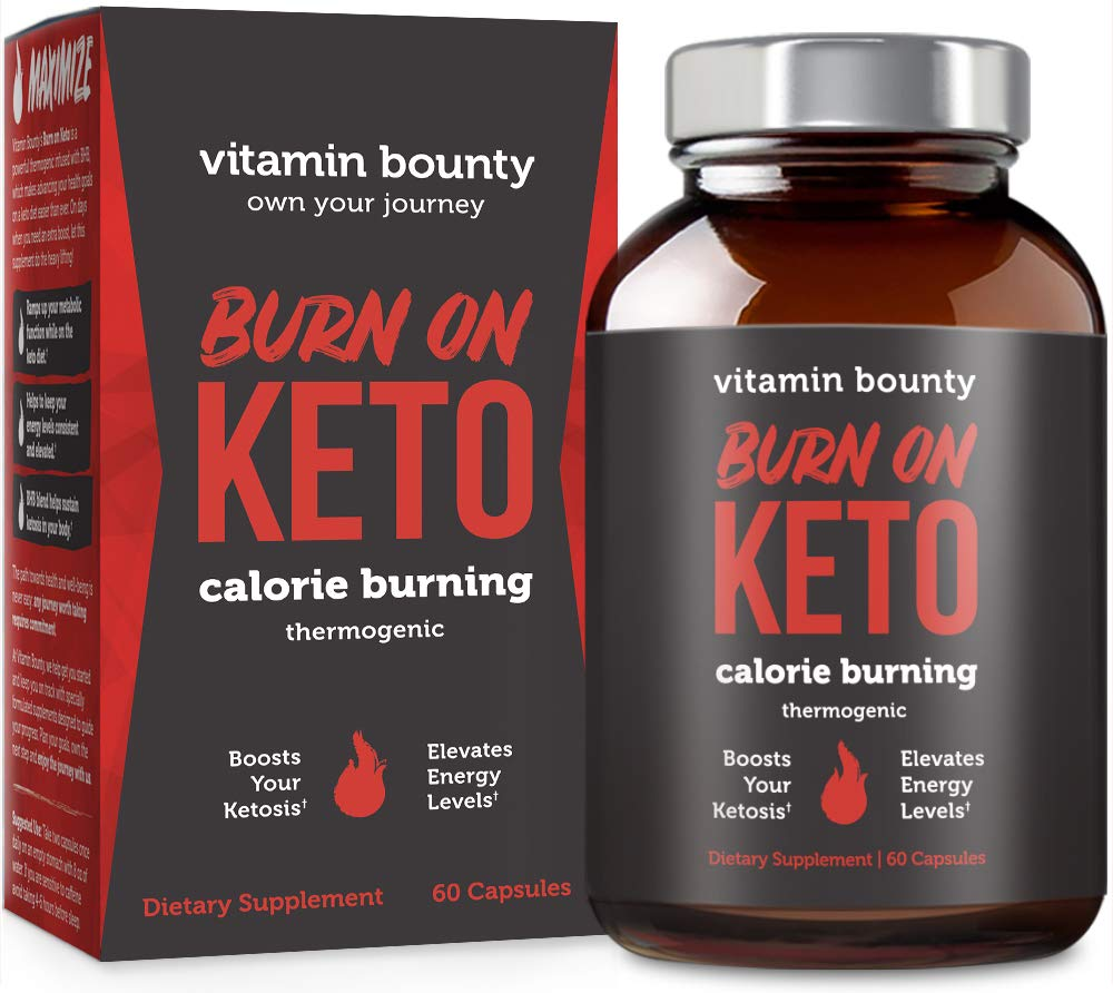 Burn on Keto - Keto Pills with BHB Beta Hydroxybutyrate Exogenous Ketones and Green Tea Extract by Vitamin Bounty