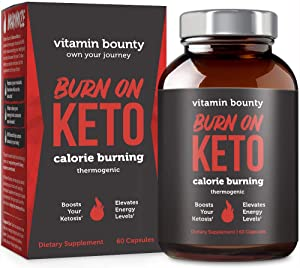 Burn on Keto - Keto Pills with BHB Beta Hydroxybutyrate Exogenous Ketones and Green Tea Extract