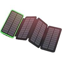 Eremoki Outdoor 12000mAh Portable Solar Power Bank with Dual 2.1A Output USB Compatible (Green)