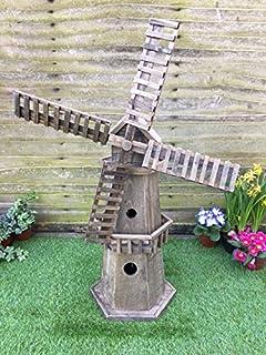Large stone windmill garden statues ornament great look gift free uk windmill garden ornament workwithnaturefo