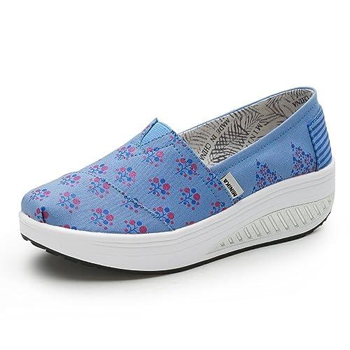 Zapatos de Mujer Shake, Mocasines y Slip-on Antideslizantes, Zapatillas de Deporte de