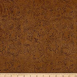 Bijoux Faux Leather Textured Tan Fabric by The Yard