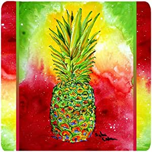 "Caroline's Treasures 8395FC Pineapple Foam Coasters (Set of 4), 3.5"" H x 3.5"" W, Multicolor"