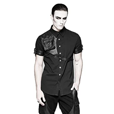 Devil Steampunk Messenger Coton Shackles Bag Chemise Gothique PPf7r
