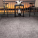 "Lavish Home Outdoor/Indoor Shag Rug - Platinum - 3'3""x5'"