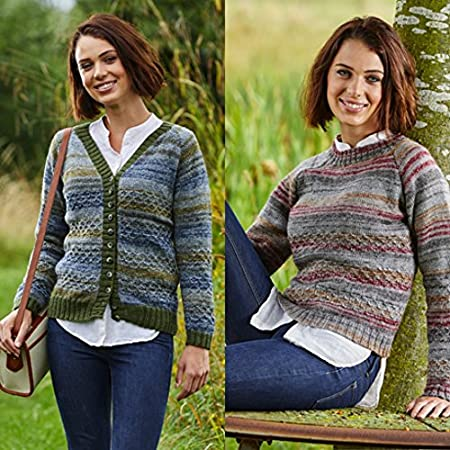 Stylecraft 9426 Sweaters and Cardigan in Tweedy DK