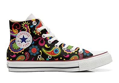 Converse Custom - personalisierte Schuhe (Handwerk Produkt) Fluo Pasley  37 EU