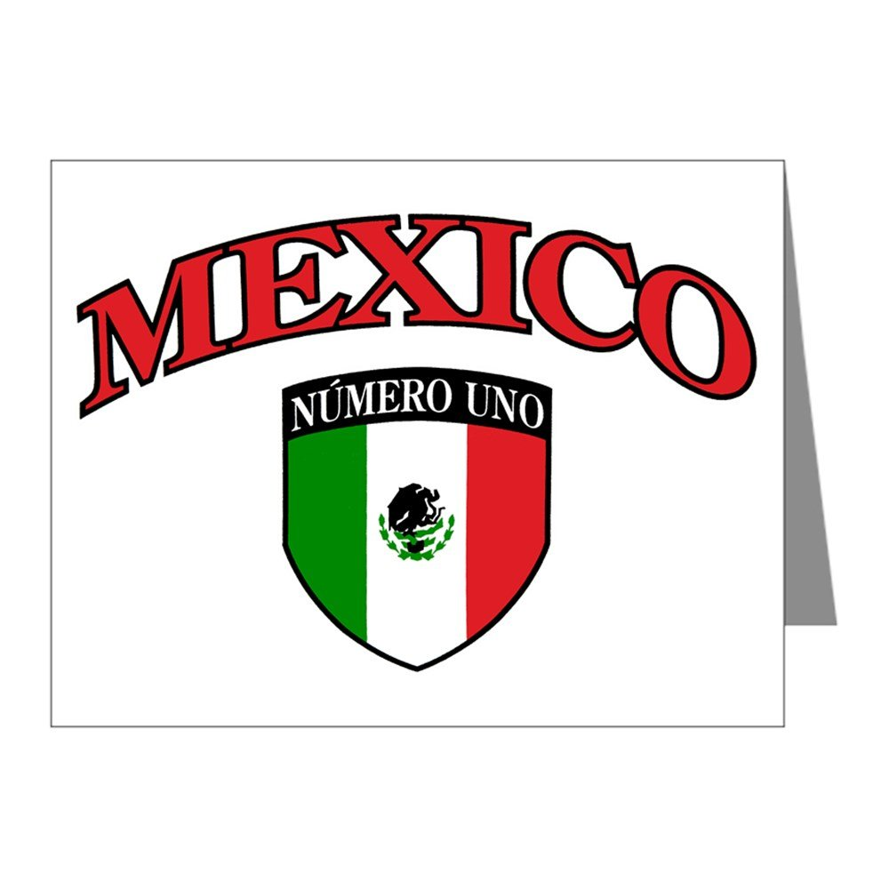 Note Cards (20 Pack) Mexico Numero Uno Mexican Flag