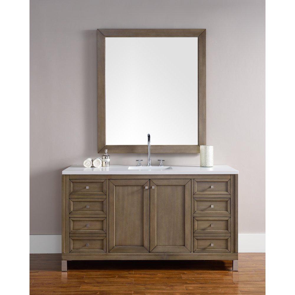 James Martin Chicago 60''. Single Bathroom Vanity (Top Not Included)