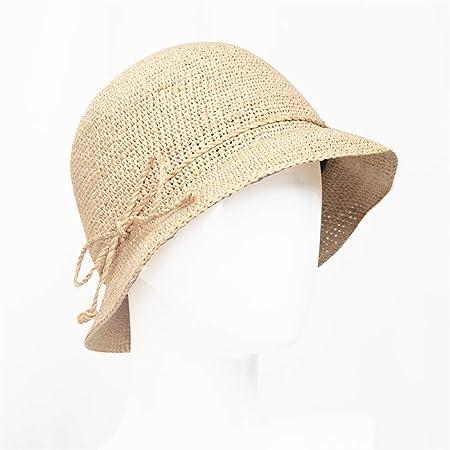 Lineary Sombrero de Paja Retro niña Sombrero de Paja Plegable para ...