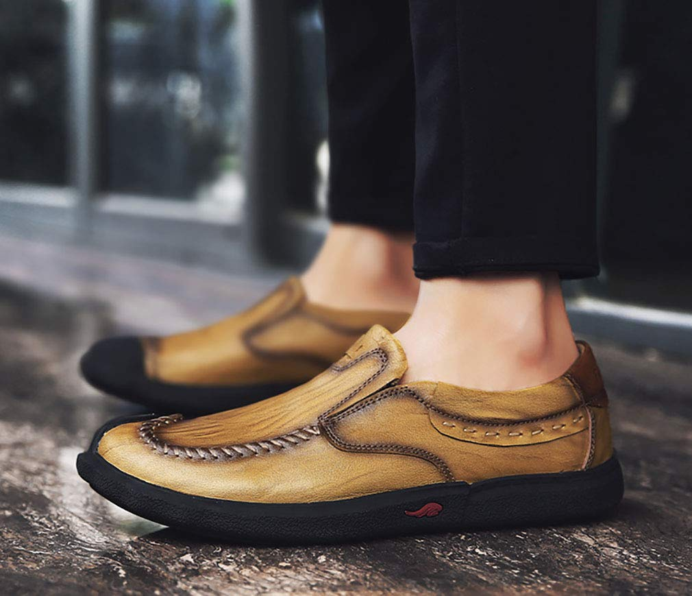 YAN 2018 Neue Männer Casual Leder Schuhe Kleid Kleid Kleid Loafers Schuhe Business Wohnung Fahr Schuhe Büro & Karriere Party & Abend 8f0d09